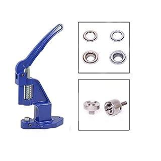 GETMORE Parts Ösenpressen-Set bestehend aus Ösenpresse + Ösenwerkzeug + 100 Stück Ösen DIN 7332 - Stahl, galvanisch verzinkt, 10 mm