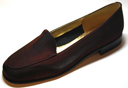 Christian Firenze 713 Made in Italy, Damen Halbschuhe Rot (Weinrot)