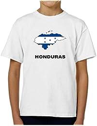 Teeburon Honduras Country Map Color Camiseta Niño