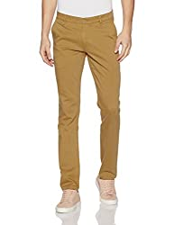 John Players Mens Slim Fit Chinos (8907482016920_JCMWTRF017018003_32W x 36L_Beige)