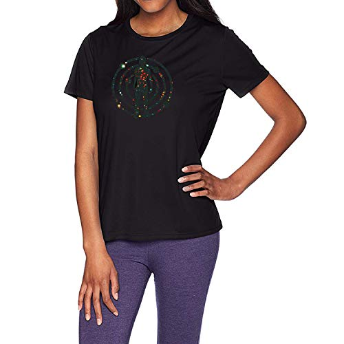 di Satellite Flight The Journey to Mother Moon T-Shirt Tee Top Shirt Black ()