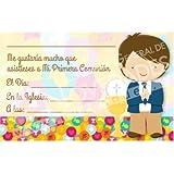 Invitación comunión niño caliz (10und)