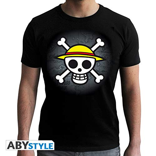 ABYstyle - One Piece - Tshirt Skull with Map Homme - Noir (XS)