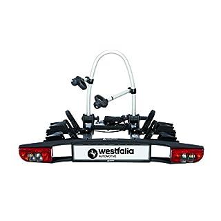 Westfalia BC 60 (Modell 2018) Fahrradträger für die Anhängerkupplung – Zusammenklappbarer Kupplungsträger für 2 Fahrräder – E-Bike geeigneter Universal-Radträger mit 60kg Zuladung