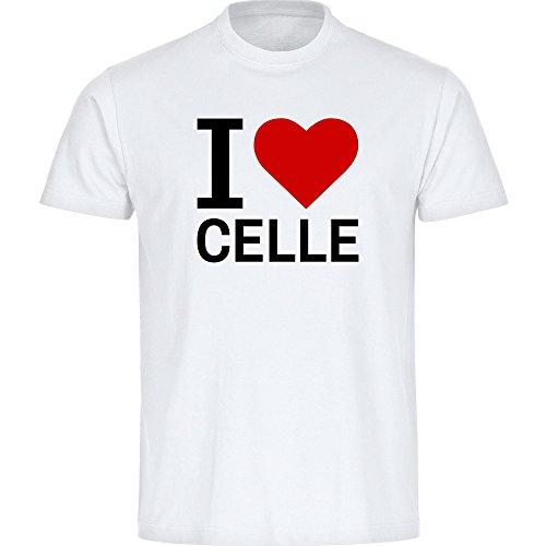 T-Shirt Classic I Love Celle weiß Kinder Gr. 128 bis 176, Größe:176