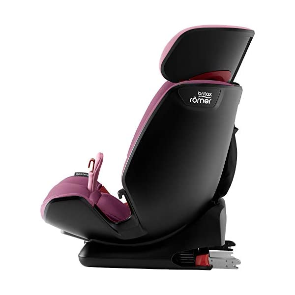 Britax Römer ADVANSAFIX IV M Group 1-2-3 (9-36KG) Car Seat- Wine Rose Britax Römer Our patented pivot link isofix system directs the force first downward into the vehicle seat, and then forward more gently - greatly reducing the risk of head and neck injury for your child We believe that a 5-point harness is the safest way to secure your child in a car seat because it keeps your child safe and tight in the seat's protective shell Soft neoprene performance chest pads fit comfortably on your child's chest. They help reduce your child's movement in the event of a collision, and add even greater comfort to the 5-point harness 8