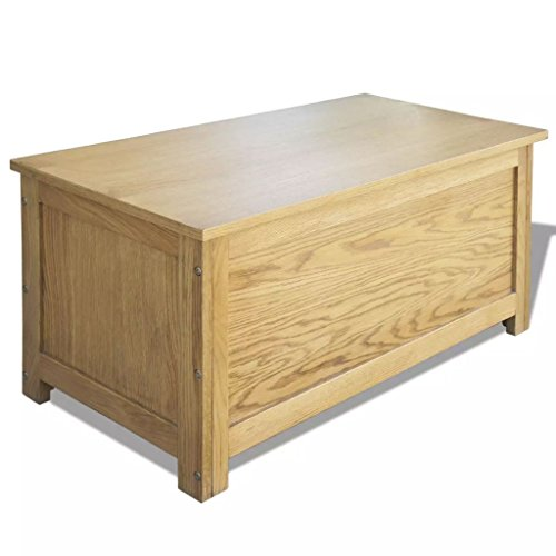 vidaXL Eiche Holz Aufbewahrungsbox Truhe Kissenbox Auflagenkiste 90x45x45 cm
