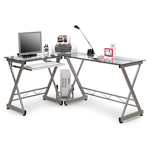 Best SixBros. Computer Desk PC Workstation Office Desk Glass – CT-3802/45 on Amazon