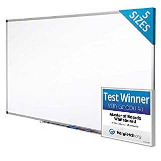 Magnetic Whiteboard | Dry Erase Board | # 1 White Board in Europe | Excellent for Office and Home - 80x110cm