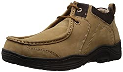 Redchief Mens Camel Leather Trekking and Hiking Footwear Boots - 9 UK (RC1215 004)