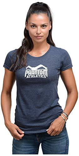 Phantom Athletics Damen T-Shirt Team Fitness Kurzarm Tops Oberteil Sport Tee Shirts Sleeve Rundhalsausschnitt Blau Gr. XS - Team Athletic-t-shirt