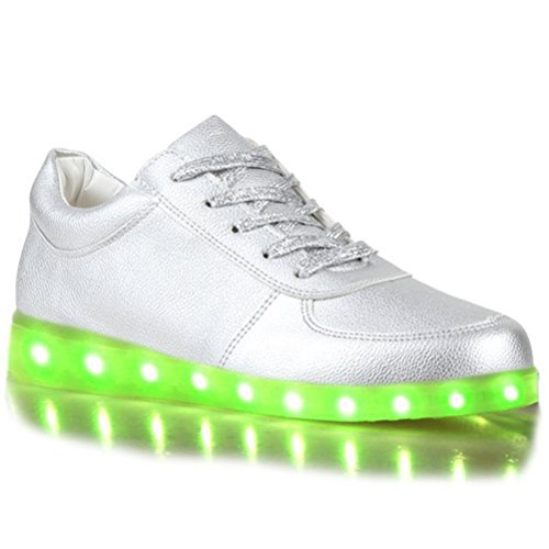 (Present:kleines Handtuch)JUNGLEST® Kinder Jungen Mädchen LED Schuhe Leuchtend Sneaker Farbwechsel Fluorescence Turnschuhe Sportsschu c35