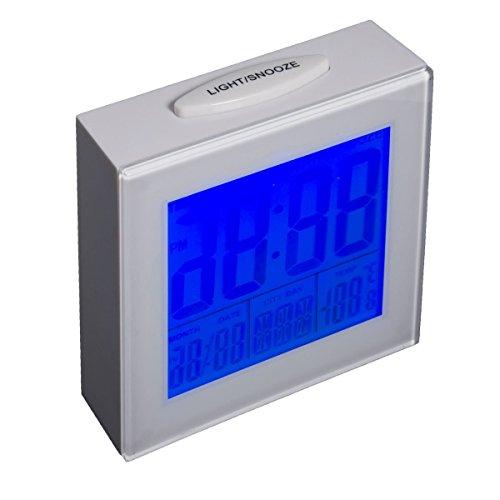 Perdules Wecker Weiss Black Light Clock - Der kompakte Reisewecker (Black Light Clock)