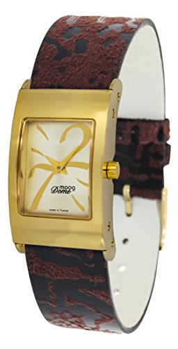 Moog Paris Dome Women's Watch with Gold Dial, Eclectic Strap in Jeans - M41661-408