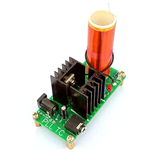 JZK® DIY 15W Mini Tesla Coil Teile Modul Kit Plasma Lautsprecher Set für Musik, Wireless Transmission DIY Spielzeug