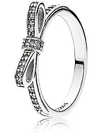 Pandora Ladies Ring Droplet 925 Silver Cubic Zirconia White Gr. 54 (17.2) - 190945CZ-54 6wFAZNR