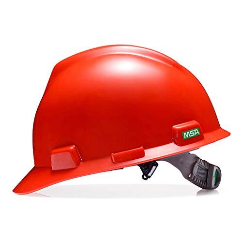 HongTong Schutzhelm PE-Baustelle Schutzhut Bauplanung Milbenhelm (Farbe : Rot)