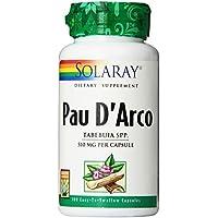 Solaray Pau D'arco Inner Bark Capsules, 510 mg, 100 Count by Solaray