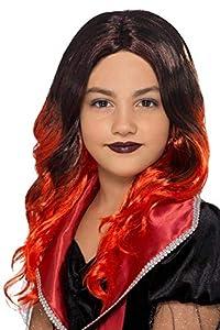 Smiffys 49126 - Peluca de bruja para niños, talla única, color negro y rojo