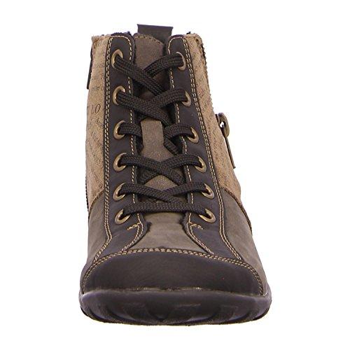 Sale remonte-Chaussures basses pour femme-Marron-Chaussures en übergrößen Multicolore - brown combination
