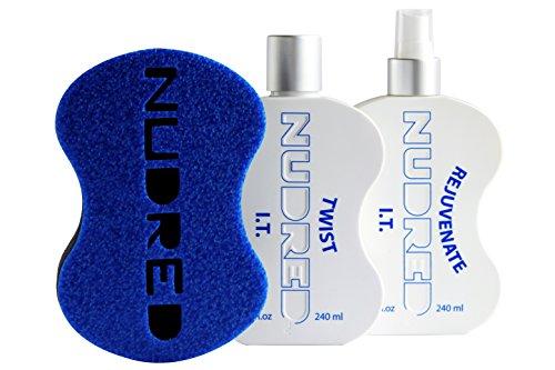 Nudred The 'Starter' Twist I.t. 2Bouteille avec ensemble de brosse | Cheveux naturels Care System