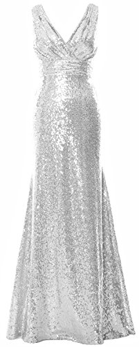 MACloth - Robe de mariage - Trapèze - Sans Manche - Femme Silber