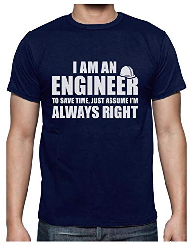 Green Turtle T-Shirts Camiseta para Hombre - Regalo para Ingeniero - I'm an Engineer, I'm Always Right Large Azul Oscuro
