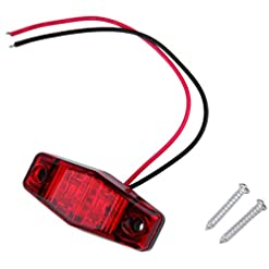 Funnyrunstore Hot1 pc LED camion rimorchio 2 diodo 1×2.5 Distanza di superficie indicatore di posizione Luce sommergibile Larghezza della lampada Liquidazione Lampada Car Styling (rosso)