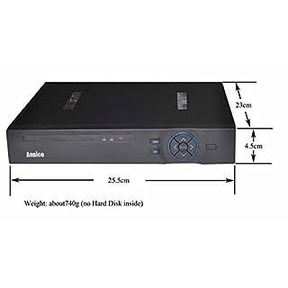ansice Hybrid DVR 1080N Video Recorder Audio 1CH H.264+ AHD TVI CVI & NVR 4in 1DVR für AHD, TVI, CVI, Koax HD Kamera XVI Koax Kontrolle & IP-Kamera