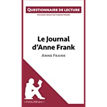 Le Journal d'Anne Frank: Questionnaire de lecture
