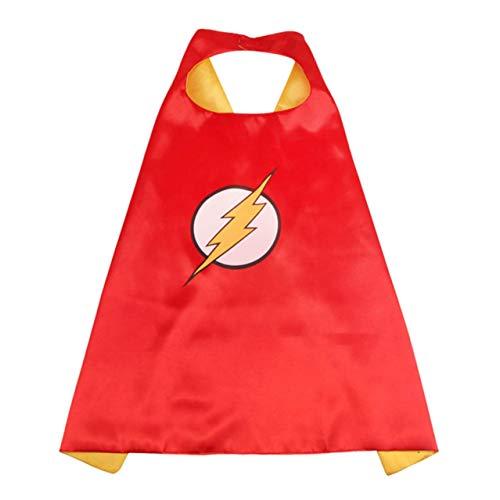 Guoxii Mehrfarbig Superheld Umhänge Kostüme für Kinder Jungen Mädchen Party Aufmerksamkeiten - - Das Flash Kostüm Mädchen