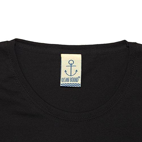 Ocean Bound - T-shirt - Slogan - Manches Courtes - Femme Noir