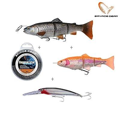 Savage Gear 4D Trout Spin Shad Gummifisch mit Spinnerblatt zum Spinnfischen