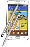2x SILBER tomaxx Stylus Pen Eingabestift mit Kugelschreiber für Apple iPhone 6 6S iPhone 6 Plus 6S Plus, Samsung Galaxy S3 S4 S5 Mini Neo Galaxy S6 S6 Edge Plus, Huawei Mate S ShotX Honor 7 ShotX 5X Y6 Y5 Nexus 6P P8 Lite G8 Google 5X HTC One M8 M9 A9, LG Nexus 5X G3 G4 mini, Microsoft Lumia 640 550 650 Lumia 950 950 XL, Sony Xperia Z5, Xperia Z5 Compact / Premium Xperia Z3 Z3+, LG Class, LG Zero