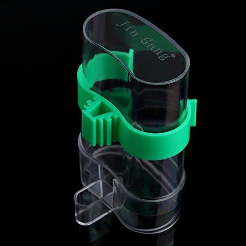 jiamins Pet Bird Automatische Futterautomat und Wasserspender Clip für Voliere Käfig Zubehör