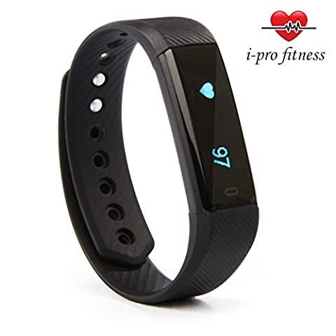 i-Pro ID115 Fitness Tracker – Seamless Pairing With VeryFit 2.0 App – Bluetooth Exercise Tracker, Heart Rate Monitor Watch, Sleep Tracker, Calorie Counter And Pedometer Wristband With Free