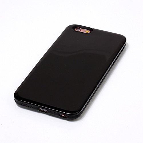 Case Cover IPhone 6s Inoltre, la calotta di protezione solido di colore posteriore dura di plastica per Apple IPhone 6s più ( Color : Purple , Size : IPhone 6s Plus ) Black