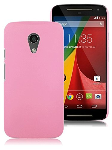 WOW! IMAGINE Matte Hard Case Back Cover for MOTOROLA MOTO G 2nd Generation G2 XT1068 - BABY PINK