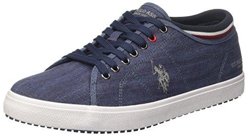 U.S.POLO ASSN. Herren STEWART1 Textile Sneaker, Blau (Dark Blue DKBL), 44 EU