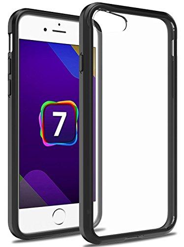 iPhone 7 Hülle, Pasonomi® [Anti-Kratzer] [Ultra Dünne] Clear Bumper Case Schutzhülle für iPhone 7 (Klar) Schwarz