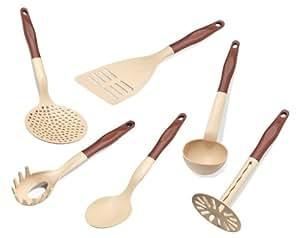 Ensemble de 6 accessoires de cuisine en plastique for Spatule plastique cuisine