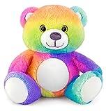 Mousehouse - adorabile orsacchiotto di peluche - color arcobaleno - 25 cm
