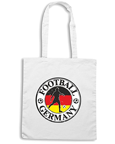 T-Shirtshock - Borsa Shopping WC0782 GERMANY FOOTBALL LOGO Bianco