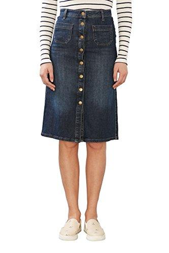 41CrA6xGKwL - ESPRIT Damen Rock Jeans Knöpfe