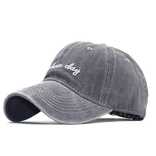mlpnko Gewaschene alte Jeansstoff Baseball Cap Buchstabenstickerei