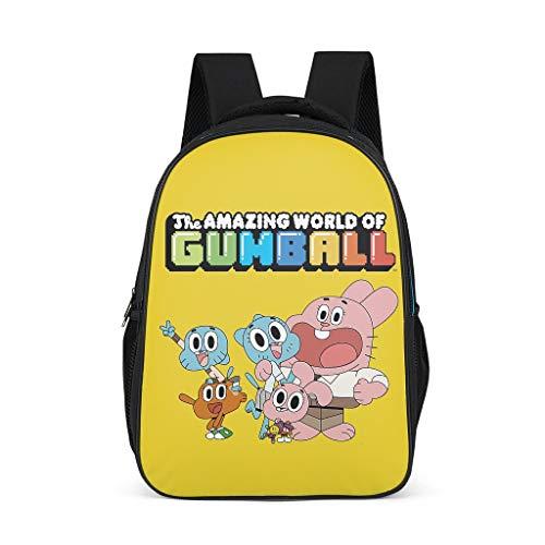 The Amazing World of Gumball - Zaino per la scuola, per bambini e ragazzi Grigio grigio Taglia unica