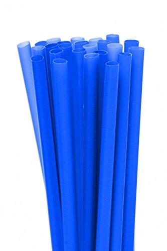 250x JUMBO Trinkhalme - 8x250mm in verschiedenen Farben, Farbe:Blau