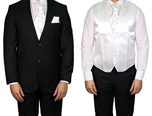 MUGA - Gilet da sposo - Senza maniche  - Uomo White