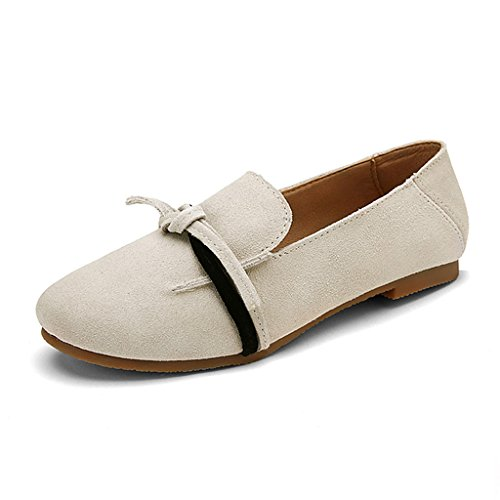 HWF Chaussures femme Printemps Shallow Mouth Single Women's Shoes Chaussures plates Casual Une pédale paresseuse féminine