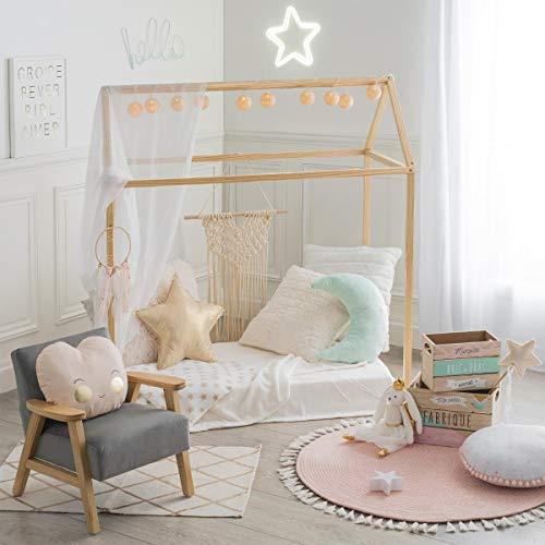 Casita de pino natural para habitación infantil